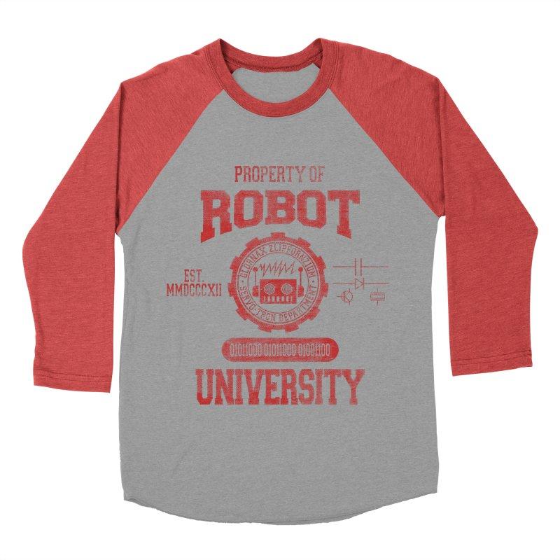 Robot University Women's Baseball Triblend T-Shirt by TREVOUR