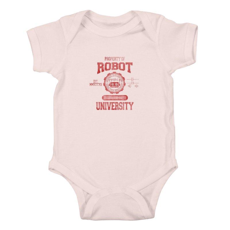 Robot University Kids Baby Bodysuit by TREVOUR