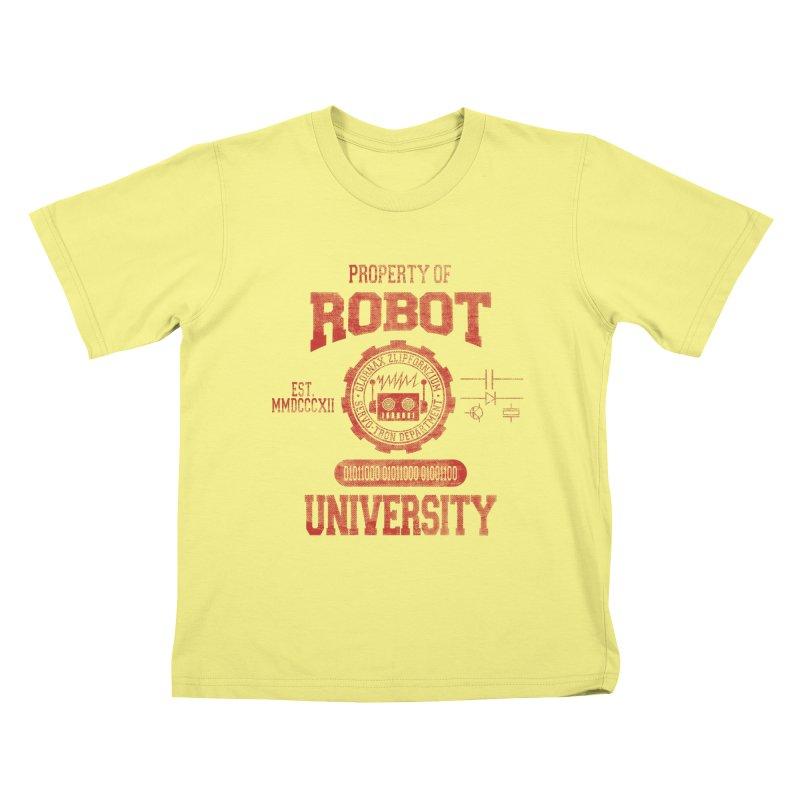 Robot University Kids T-shirt by TREVOUR