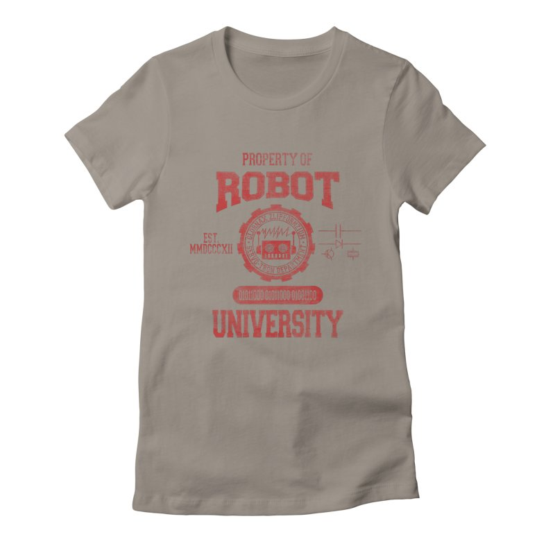 Robot University Women's Fitted T-Shirt by TREVOUR