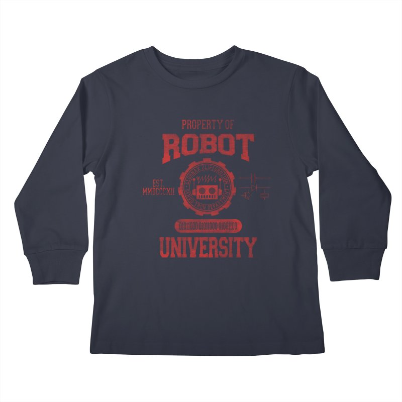 Robot University Kids Longsleeve T-Shirt by TREVOUR