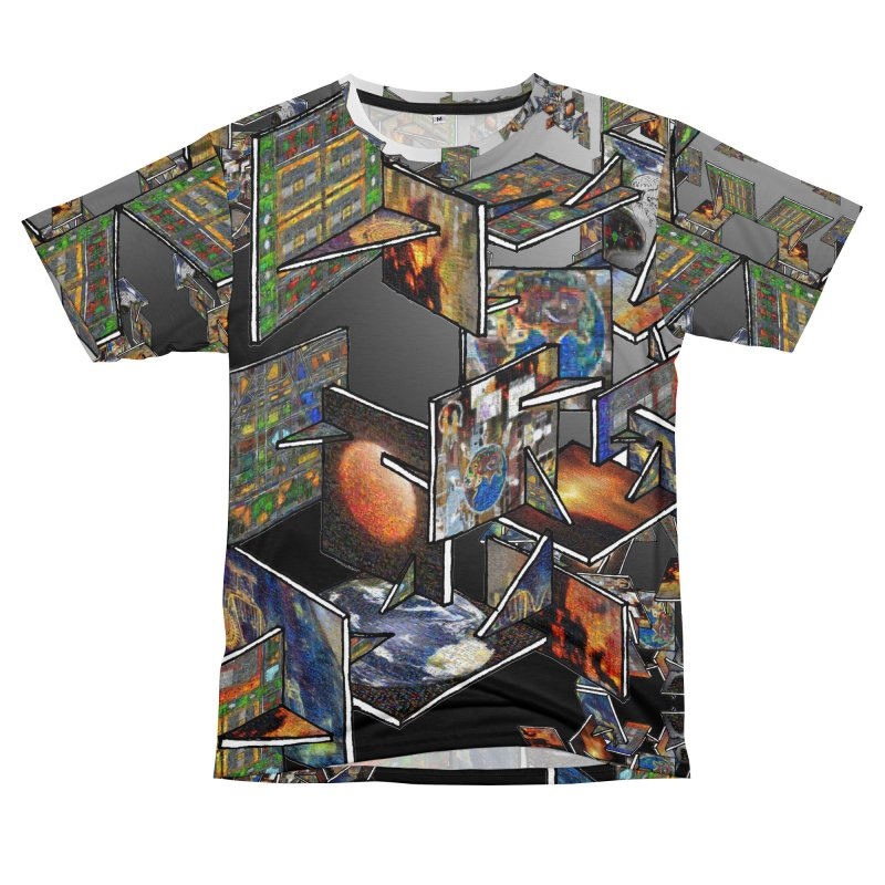 Fractal FrameWork Men's Cut & Sew by Trevor Ycas's Artist Shop