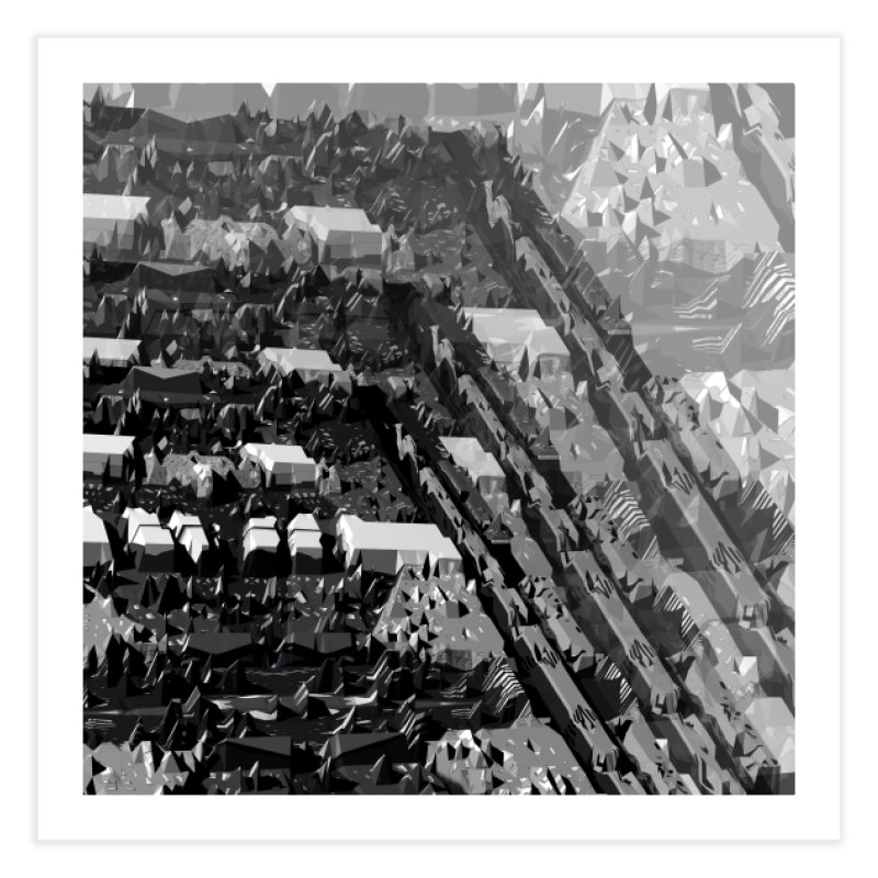 Urban Reduction : Neighborhoods Home Fine Art Print by Trevor Ycas's Artist Shop