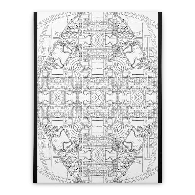 HydroCarbon Complexity 1 Home Stretched Canvas by Trevor Ycas's Artist Shop