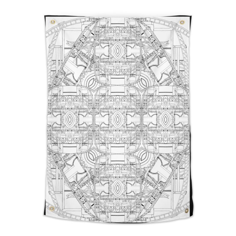 HydroCarbon Complexity 1 Home Tapestry by Trevor Ycas's Artist Shop
