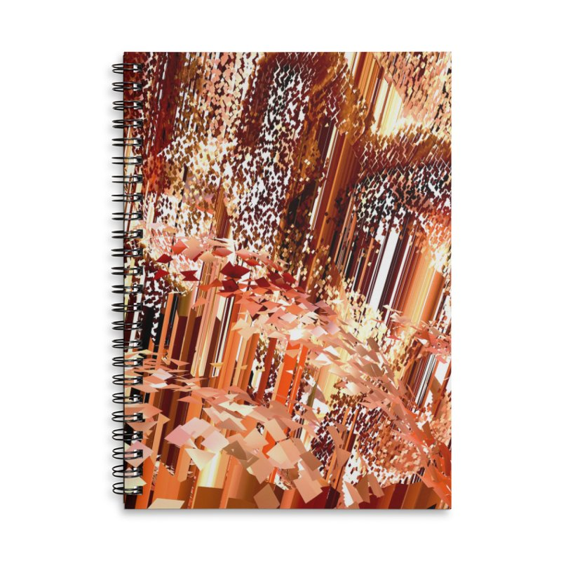 Digital Fire, Stoked Accessories Notebook by Trevor Ycas's Artist Shop