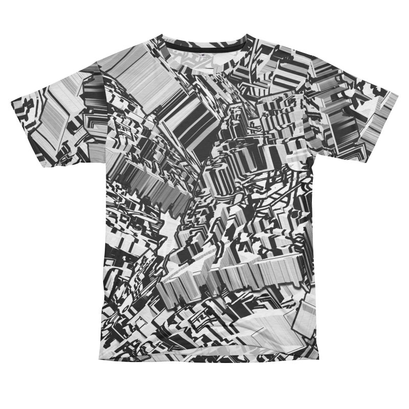 Compressed Extrusion Men's Cut & Sew by Trevor Ycas's Artist Shop