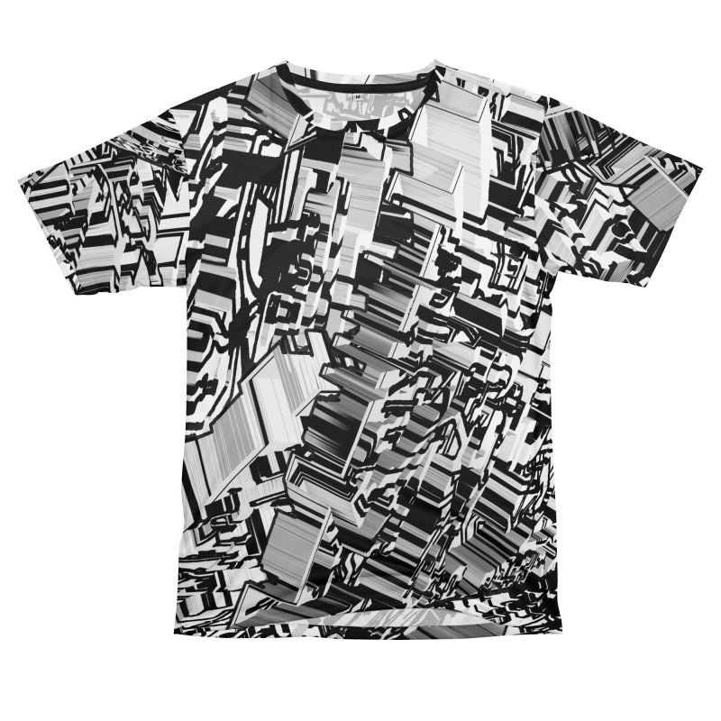 Compressed Extrusion: Confrontation Men's Cut & Sew by Trevor Ycas's Artist Shop