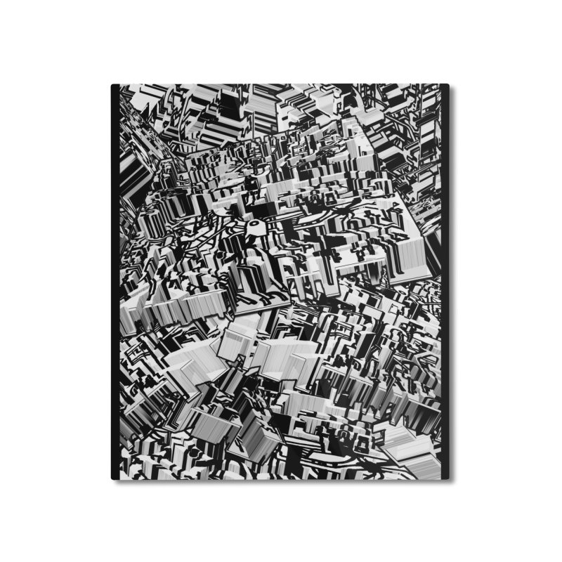 Compressed Extrusion: Confrontation Home Mounted Aluminum Print by Trevor Ycas's Artist Shop