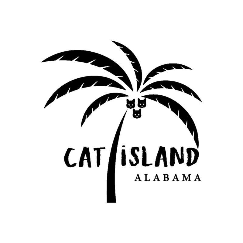 Cat Island Alabama logo 1 black ink by treylane's Shop