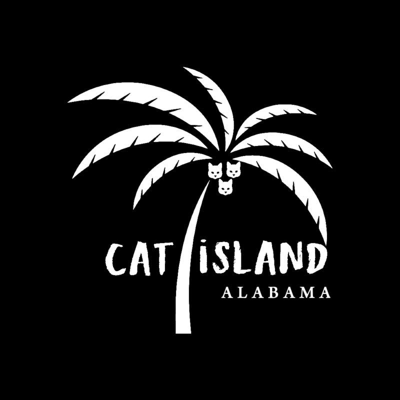 Cat Island Alabama logo 1 white ink by treylane's Shop