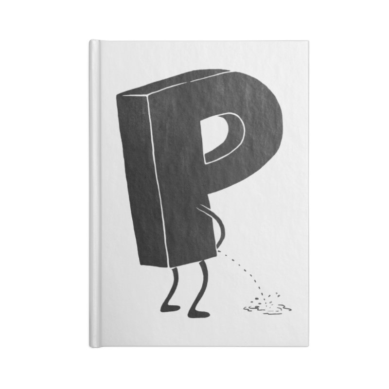 P(ee) Accessories Notebook by triagus's Artist Shop