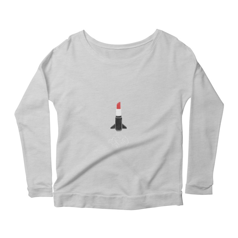Launch Your Beauty Women's Longsleeve Scoopneck  by triagus's Artist Shop