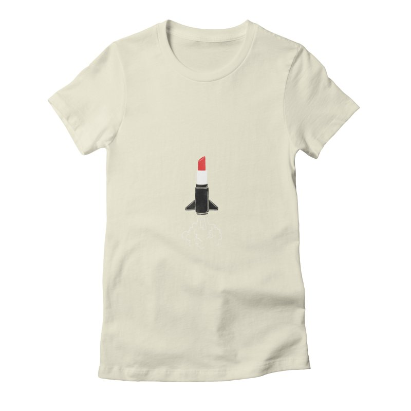 Launch Your Beauty Women's Fitted T-Shirt by triagus's Artist Shop