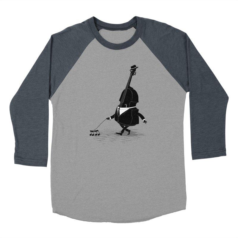 Walking Bass Men's Baseball Triblend T-Shirt by triagus's Artist Shop