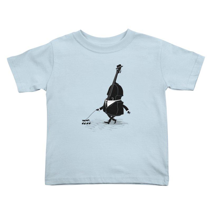 Walking Bass Kids Toddler T-Shirt by triagus's Artist Shop