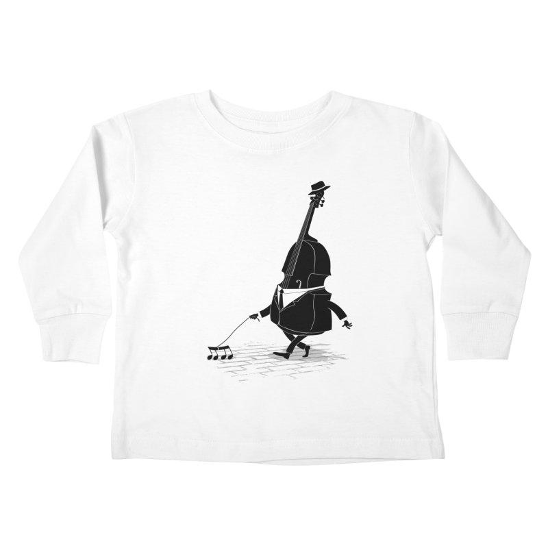 Walking Bass Kids Toddler Longsleeve T-Shirt by triagus's Artist Shop