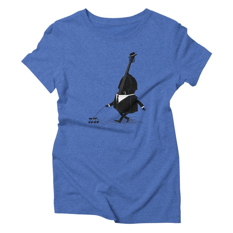 Walking Bass Women's Triblend T-Shirt by triagus's Artist Shop