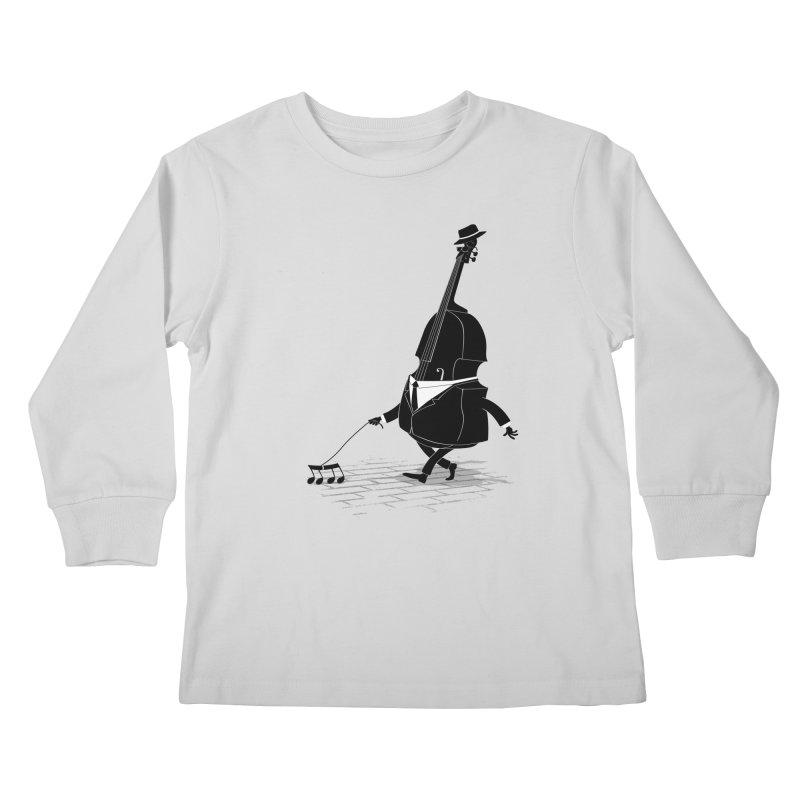 Walking Bass Kids Longsleeve T-Shirt by triagus's Artist Shop