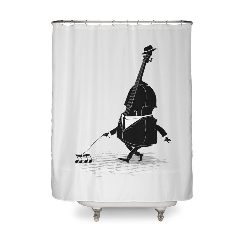Walking Bass Home Shower Curtain by triagus's Artist Shop