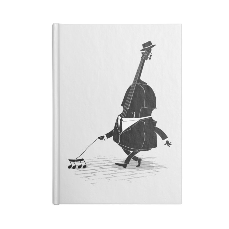 Walking Bass Accessories Notebook by triagus's Artist Shop