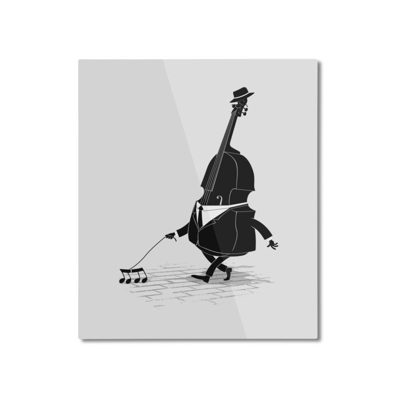 Walking Bass Home Mounted Aluminum Print by triagus's Artist Shop