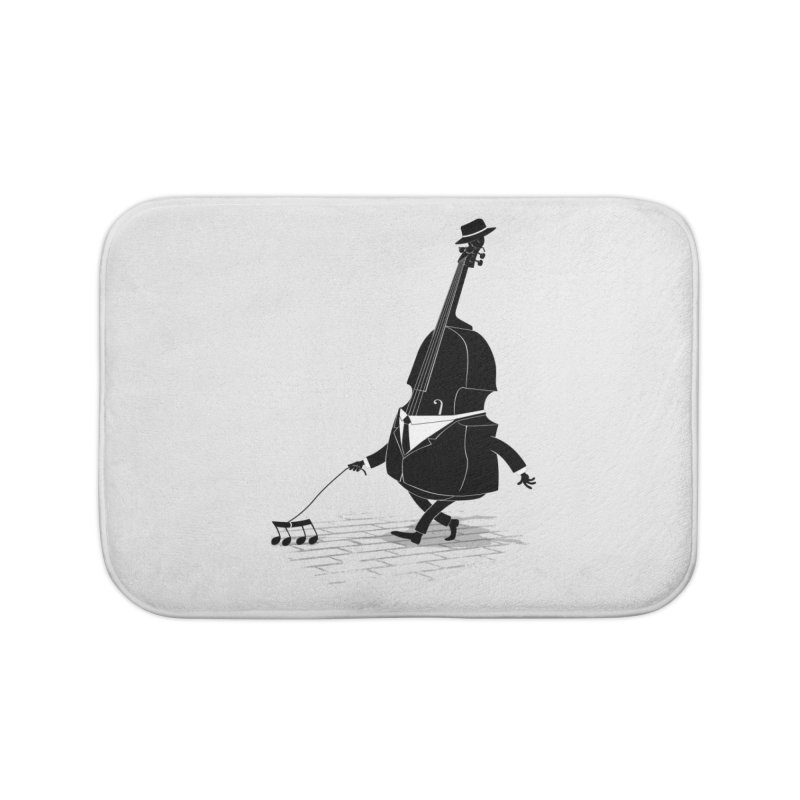 Walking Bass Home Bath Mat by triagus's Artist Shop
