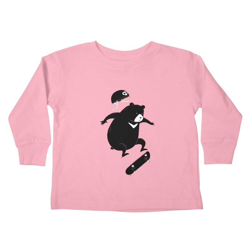 Extreme Bear Kids Toddler Longsleeve T-Shirt by triagus's Artist Shop