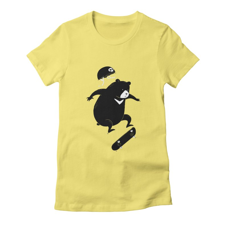 Extreme Bear Women's Fitted T-Shirt by triagus's Artist Shop