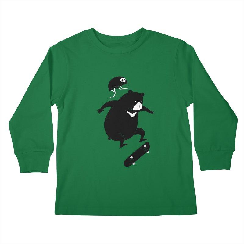 Extreme Bear Kids Longsleeve T-Shirt by triagus's Artist Shop
