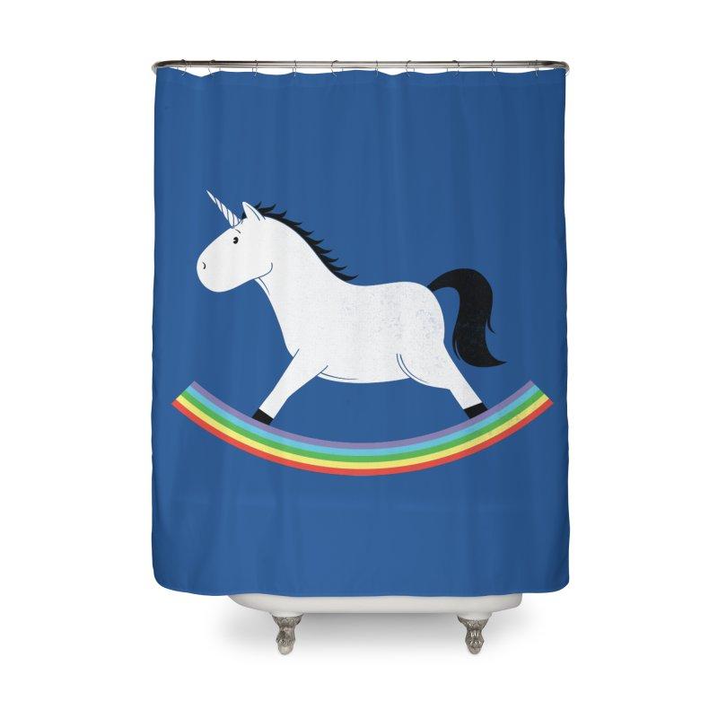 Rocking Unicorn Home Shower Curtain by triagus's Artist Shop