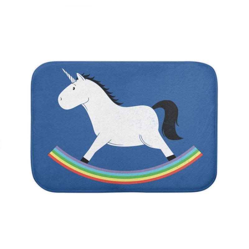 Rocking Unicorn Home Bath Mat by triagus's Artist Shop