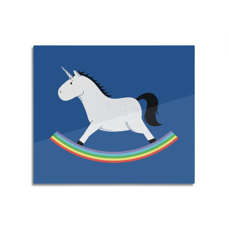 Rocking Unicorn Home Mounted Aluminum Print by triagus's Artist Shop