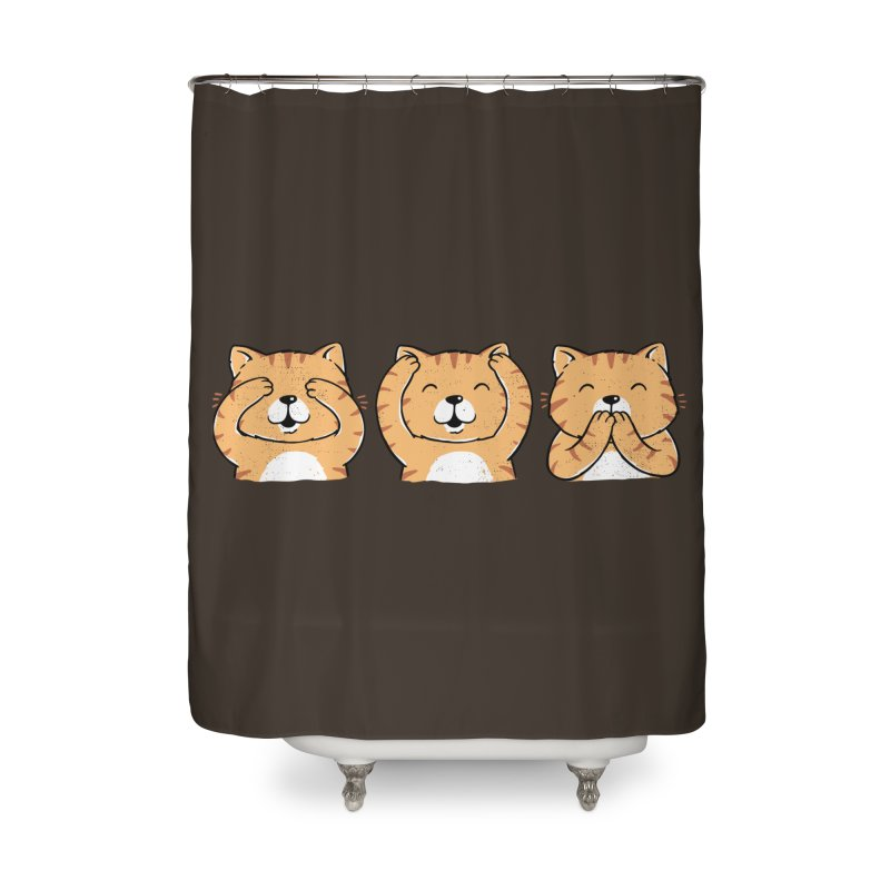 Three Wise Cats Home Shower Curtain by triagus's Artist Shop
