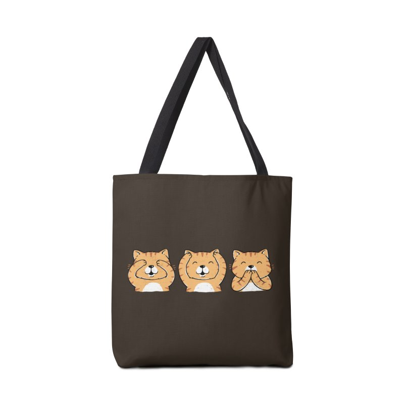 Three Wise Cats Accessories Tote Bag Bag by triagus's Artist Shop
