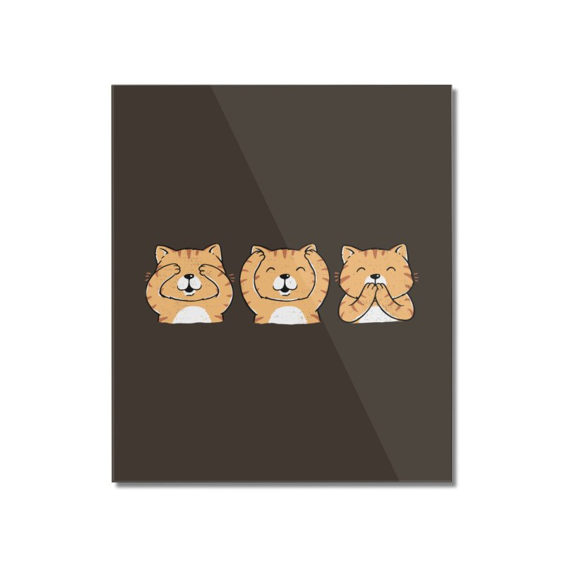 Three Wise Cats Home Mounted Acrylic Print by triagus's Artist Shop
