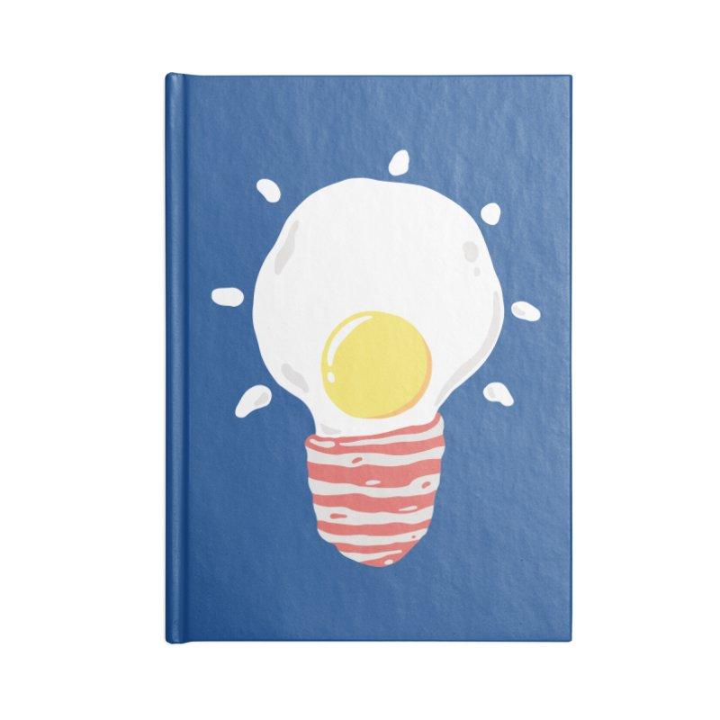 Breakfast Is A Bright Idea Accessories Blank Journal Notebook by triagus's Artist Shop