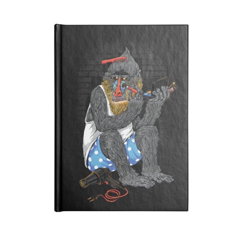 Salon Monkey Accessories Blank Journal Notebook by triagus's Artist Shop