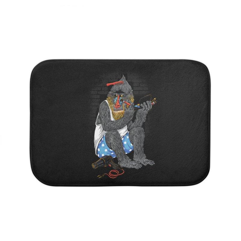 Salon Monkey Home Bath Mat by triagus's Artist Shop