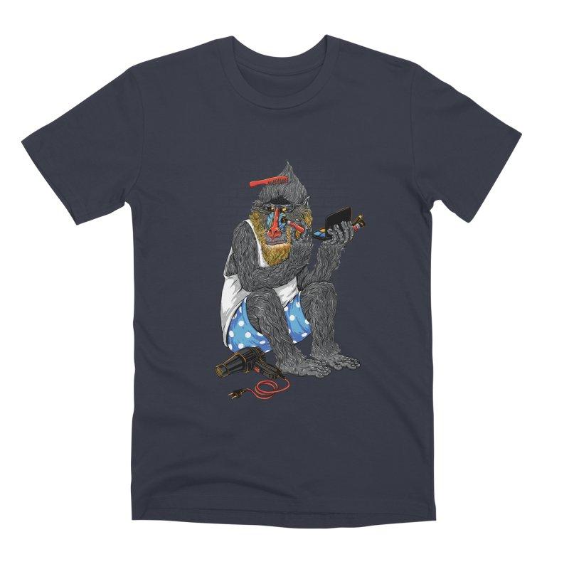 Salon Monkey Men's T-Shirt by triagus's Artist Shop