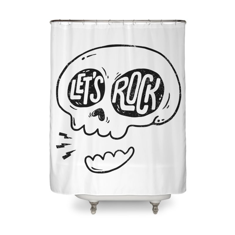 Let's Rock Home Shower Curtain by triagus's Artist Shop