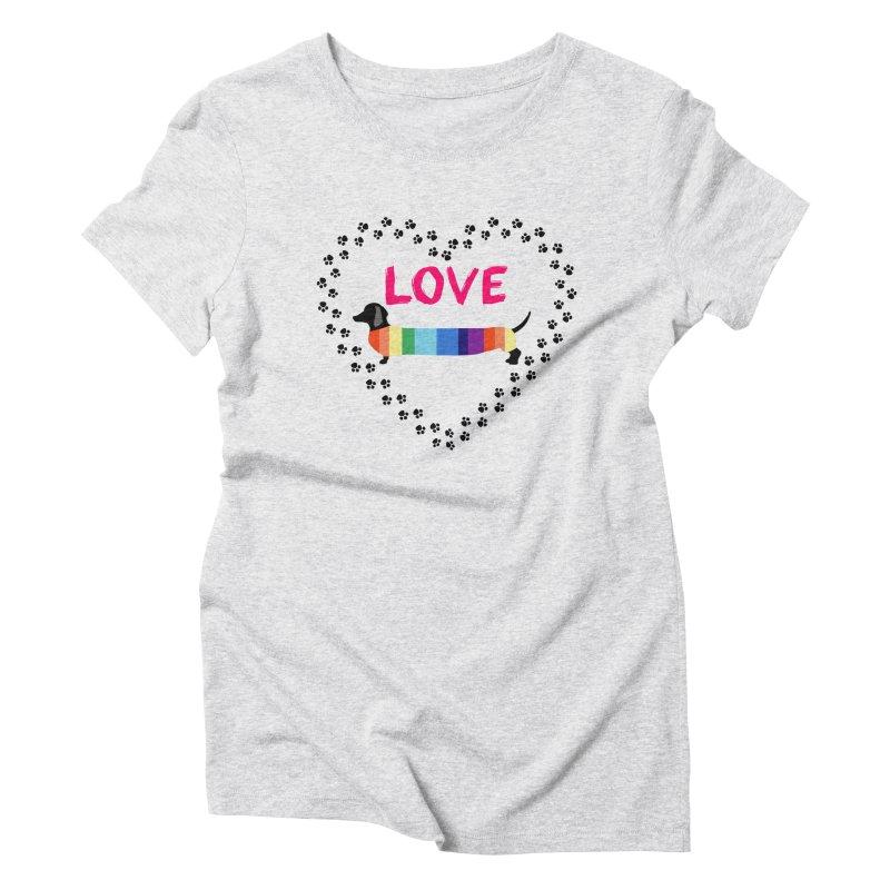 Love Dachshunds Women's T-Shirt by Tribble Design - Unique graphics for unique produc
