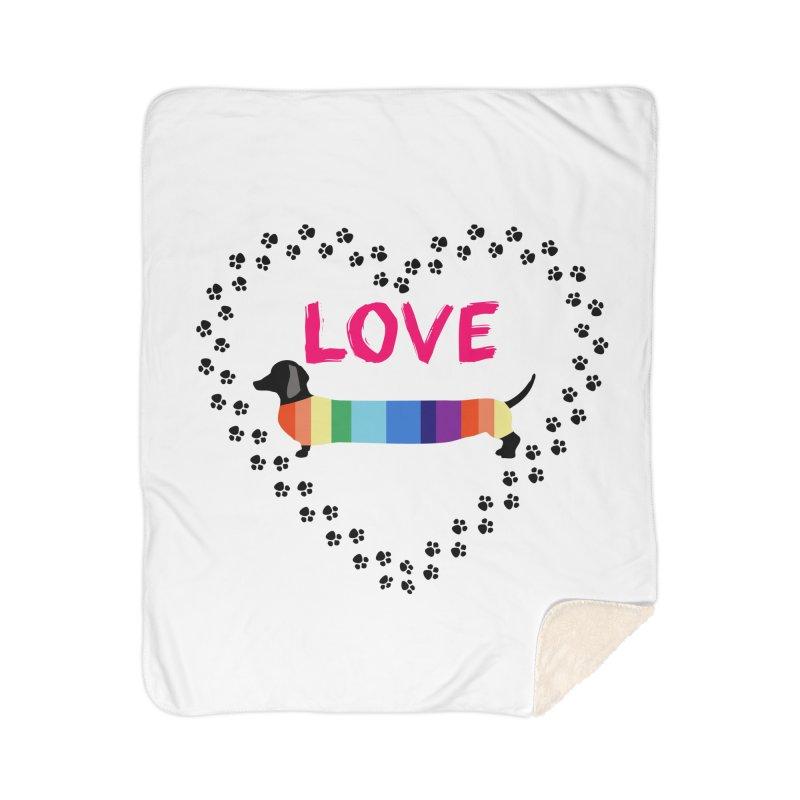 Love Dachshunds Home Blanket by Tribble Design - Unique graphics for unique produc