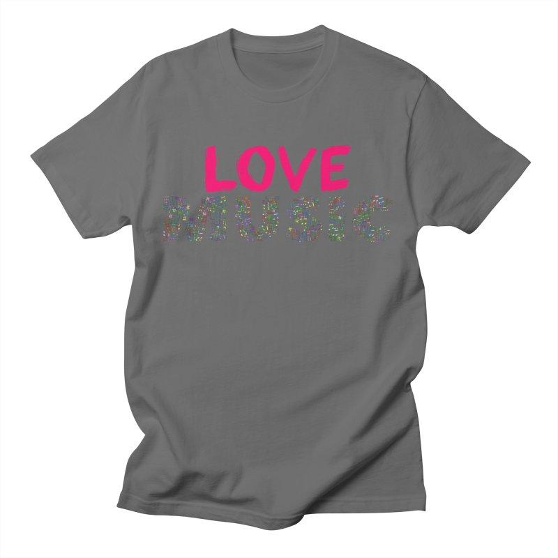 Love Music Colour Musical notes Men's T-Shirt by Tribble Design - Unique graphics for unique produc