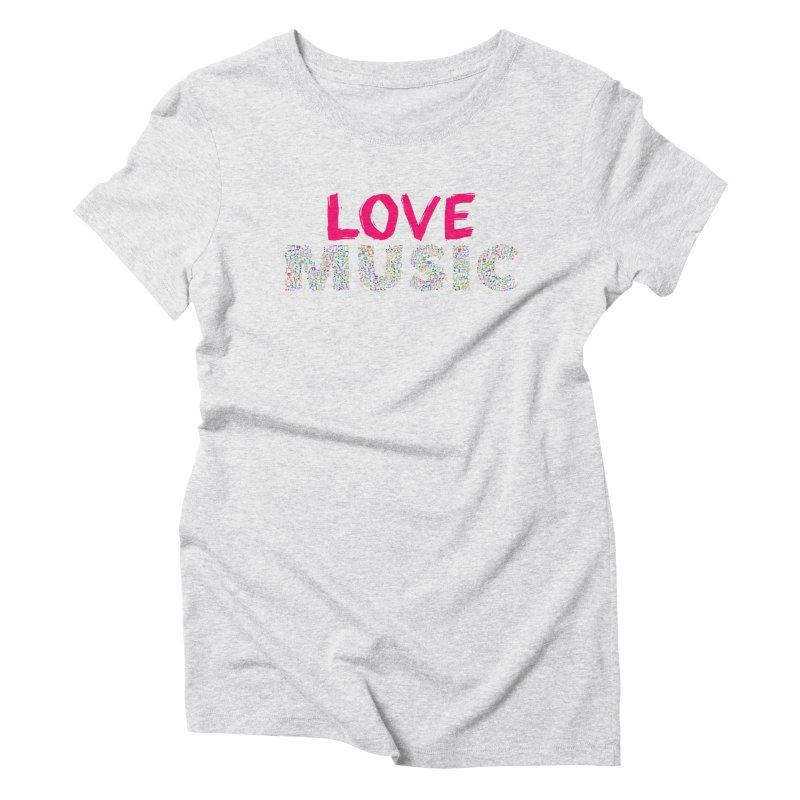 Love Music Colour Musical notes Women's T-Shirt by Tribble Design - Unique graphics for unique produc