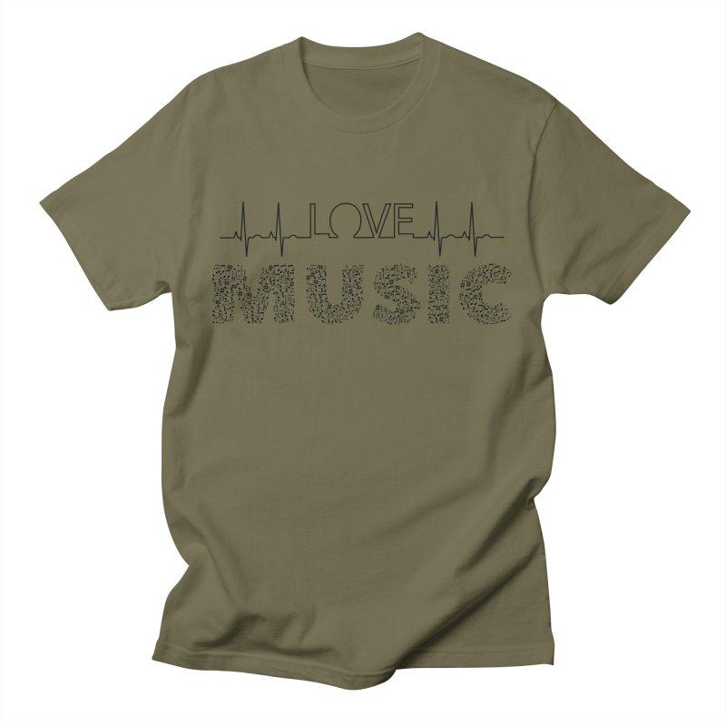 Love Music Musical notes Heartbeat Men's T-Shirt by Tribble Design - Unique graphics for unique produc
