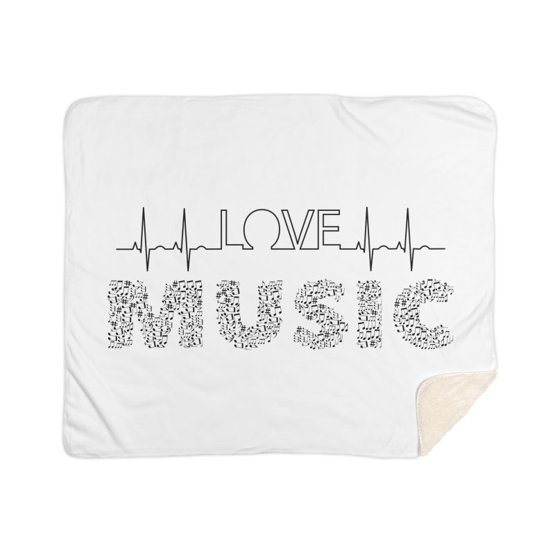 Love Music Musical notes Heartbeat Home Blanket by Tribble Design - Unique graphics for unique produc