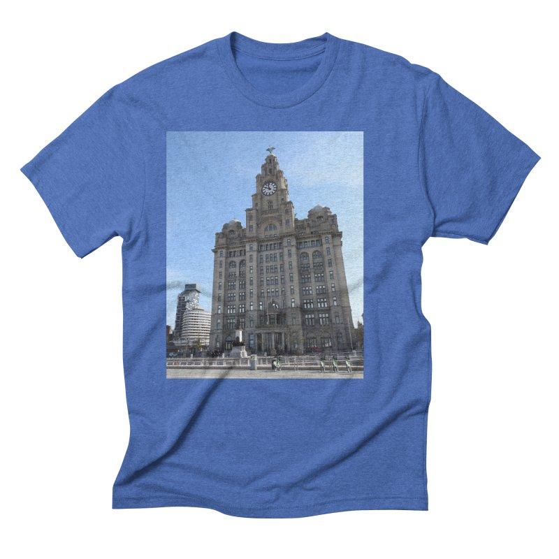Liverpool Liver Building Men's T-Shirt by Tribble Design - Unique graphics for unique produc