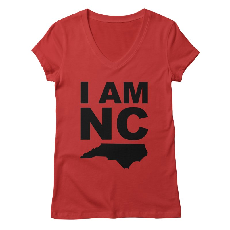 I AM NC 2 Women's V-Neck by Tribe of the Infinite