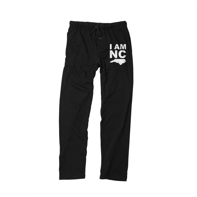 I AM NC in Men's Lounge Pants Black by Tribe of the Infinite